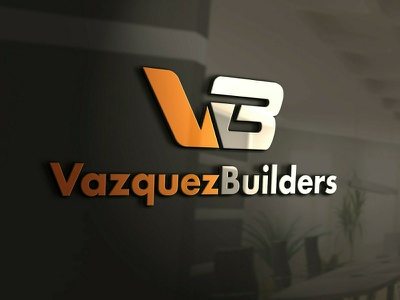 VazquezBuilders logo design branding vector graphic design logo mark logotype logo designer logo design logo illustrator brand identity