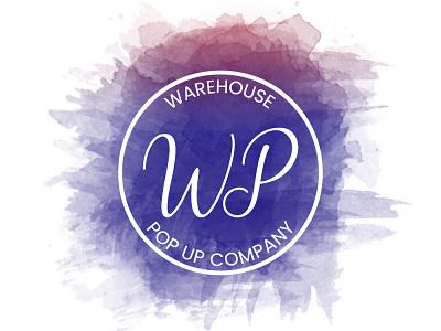WAREHOUSE POP UP Company watercolor logo design branding vector graphic design logotype logo mark logo designer logo design logo illustrator brand identity