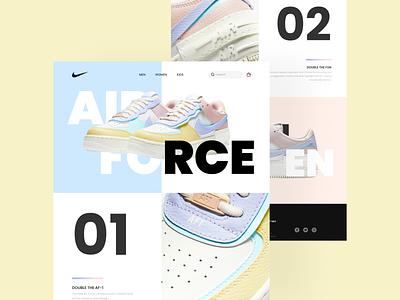 Nike Landing Page mockup ui design mobile web ui logo illustration sneakers shoes nike landingpage footwear design app