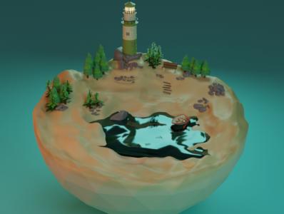 Blender 3D - Lighthouse life is strange game design game art 3d animation 3d photoshop illustration design blender 3dsmax 3d artist 3d art low poly