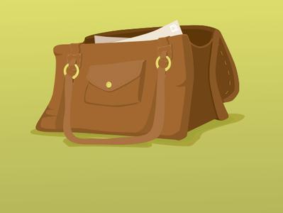 Messenger Bag illustrator vector