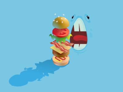 Burger 2.0 burger live gradient vector