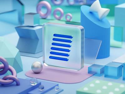 EffectiveSoft 3d logo absctract logo graphic design 3d ui