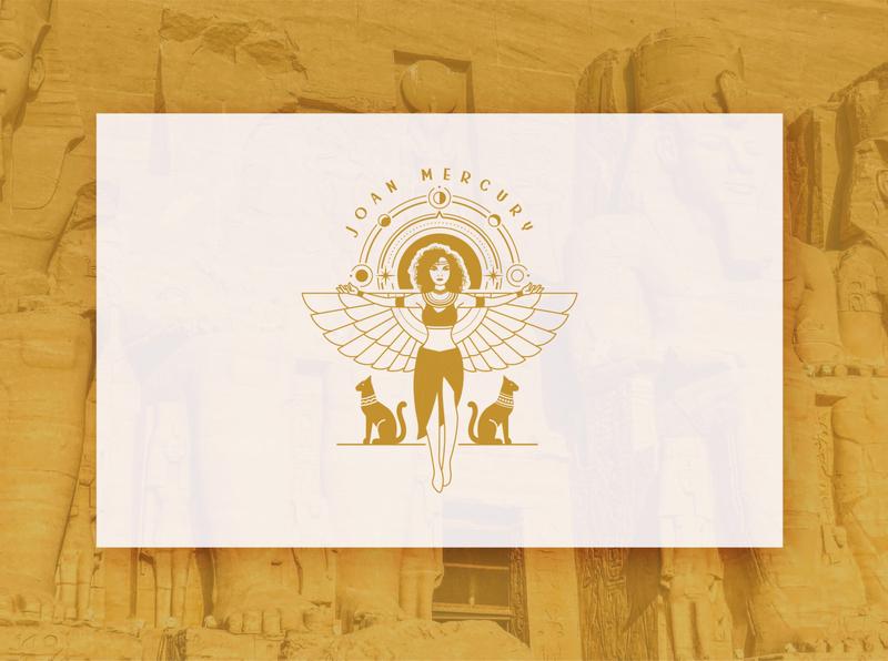 Joan Mercury vector illustration logo design