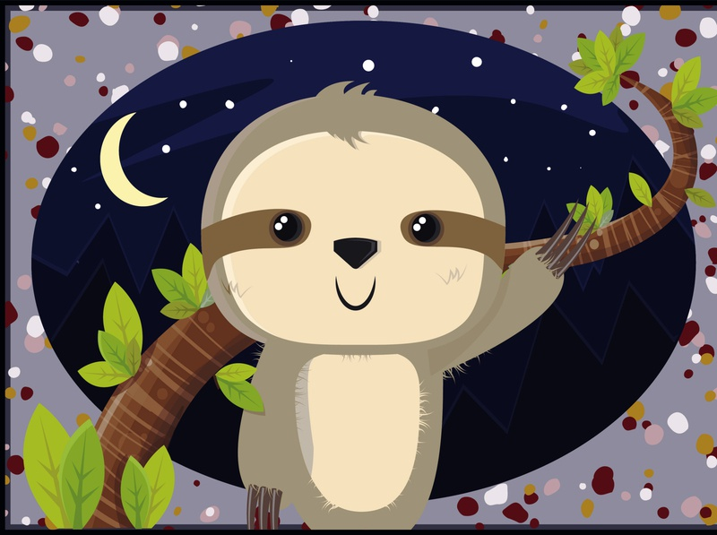 Sloth cute art spiritanimal animal illustration animals illustrated animal tree cute