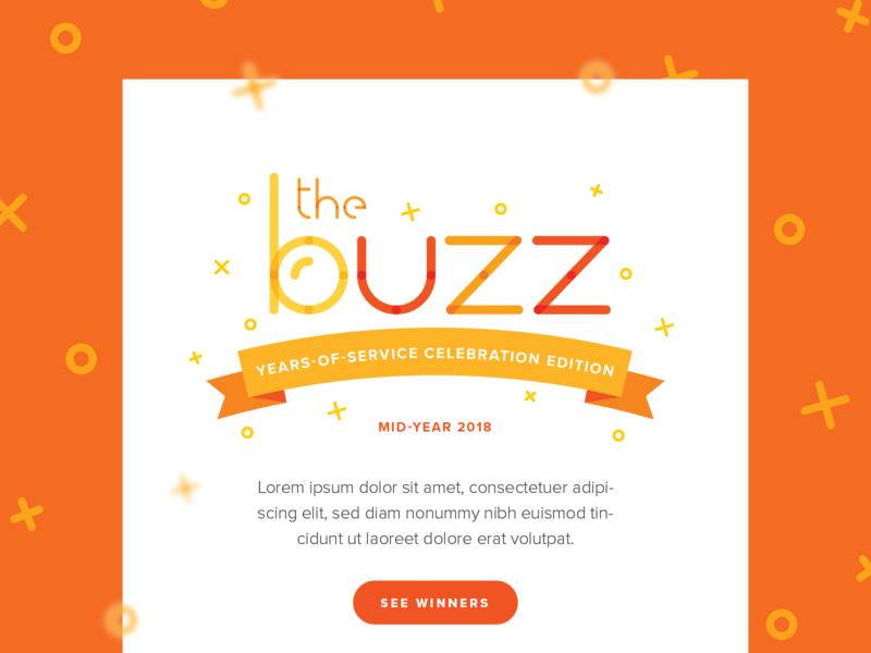 The Buzz Newsletter Email pattern branding newsletter email vector illustrator graphic design typography illustration