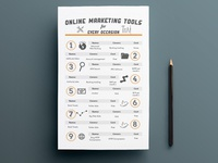 Online Marketing tools Brochure Infographic