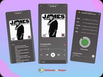 UX Player app design abstract designofday figma ux app illustration design branding