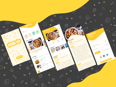 Cooking app design app design illustration xd illustrator