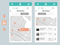 Stor mobile UI - Location selection