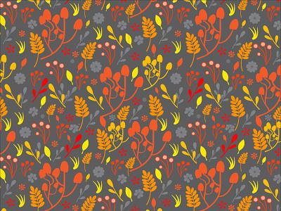 Pattern nature plants autumn collection autumn plants pattern vector pattern fabric design pattern design pattern art flat vector design illustration pattern