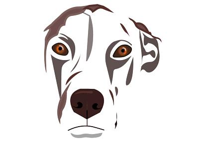 white dog character design animal face illustration digital illustration art illustration animal vector animal dog vector art vector illustration adobe illustrator form vector illustration flat design