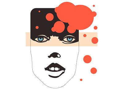 portrait girl character design face aesthetic vector illustration illustration art adobe illustrator form vector illustration flat design