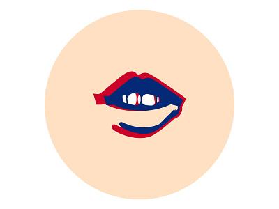 Silence woman lipstick lips aesthetic vector illustration illustration art adobe illustrator form vector illustration flat design