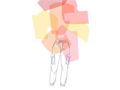 pastel cutout fashion cutout illustration vector pants fashion illustration fashion colors aesthetic forms illustration art vector illustration flat adobe illustrator illustration design vector