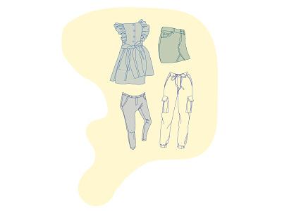fashion group 03 fashion apparel clothing forms fashion illustration aesthetic illustration art vector illustration flat adobe illustrator illustration design vector