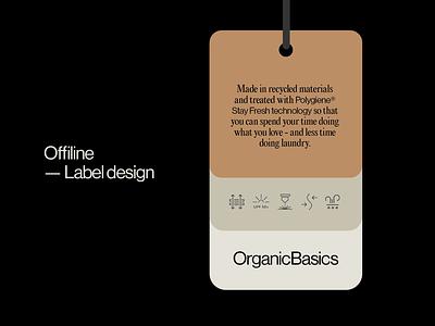 Label - OrganicBasics icon design label design label logo underwear ethical branding design brand 80s typography identity fashion branding