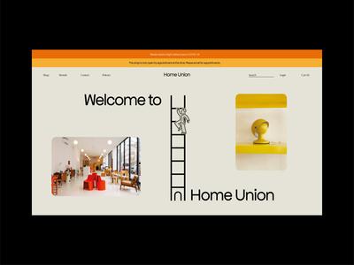 HomeUnion vintage decoration house home lighting furniture illustration logo ecommerce design branding design brand typography identity branding