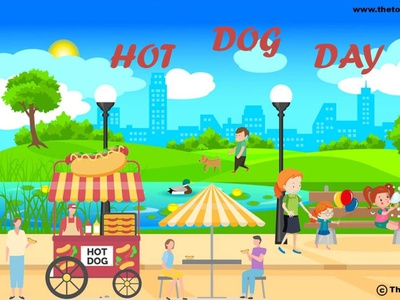 Hot Dog Day vector ui ux design socialmedia poster design photoshop illustration graphicdesign