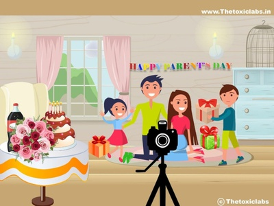 Parents Day vector ux ui design socialmedia poster design photoshop illustration graphicdesign