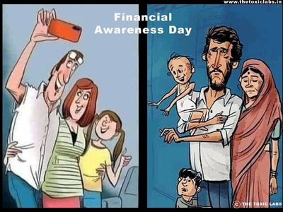 Financial Awareness Day vector ui ux design socialmedia poster design photoshop illustration graphicdesign