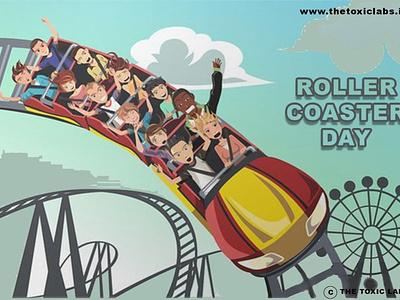 Roller Coaster Day vector ui ux socialmedia design poster design photoshop illustration graphicdesign