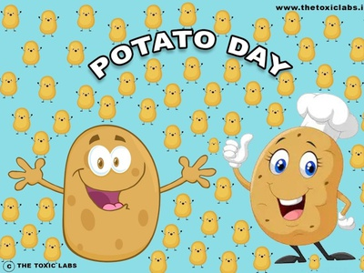 Potato Day vector ux ui design socialmedia poster design photoshop illustration graphicdesign