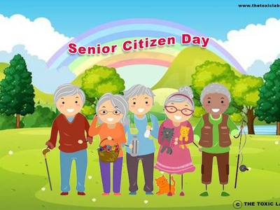 Senior Citizen Day vector ux ui design socialmedia poster design photoshop illustration graphicdesign