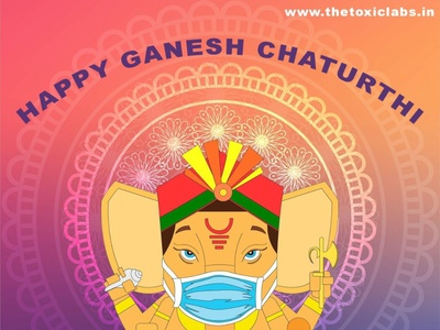Happy Ganesh Chaturthi vector ux ui design socialmedia poster design illustration photoshop graphicdesign