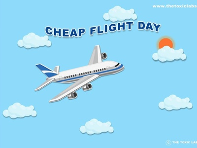 Cheap Flight Day vector ux ui design socialmedia poster design photoshop illustration graphicdesign