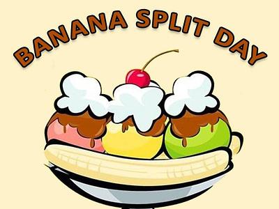 Banana Split Day vector ux ui design socialmedia poster design photoshop illustration graphicdesign