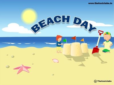 Beach Day vector ui ux design socialmedia poster design illustration photoshop graphicdesign