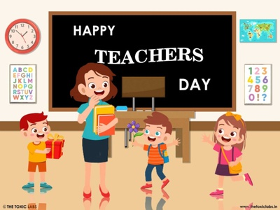 Happy Teacher Day vector ui ux illustration design socialmedia poster design photoshop graphicdesign