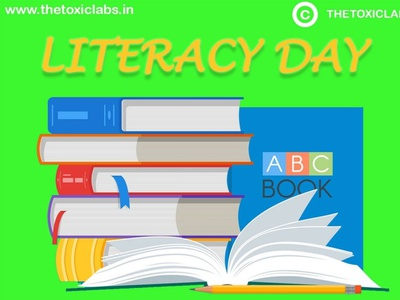 Literacy Day vector ux ui design socialmedia poster design illustration photoshop graphicdesign
