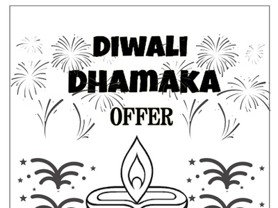 Diwali Dhamaka vector ux ui design socialmedia poster design photoshop illustration graphicdesign