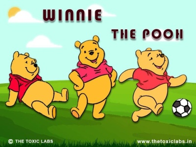Winnie The Pooh branding vector ui ux design socialmedia poster design photoshop illustration graphicdesign