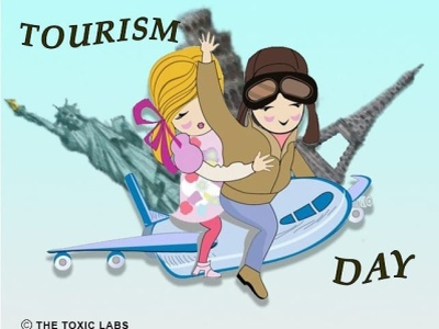Tourism Day 🌍✈ vector ux ui socialmedia design poster design photoshop illustration graphicdesign