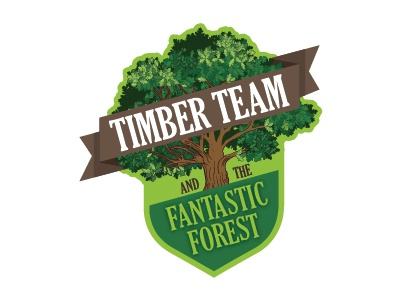Timber Team Logo Concept badge badge logo brown logo green logo childrens museum tree logo wood logo logo concept logo