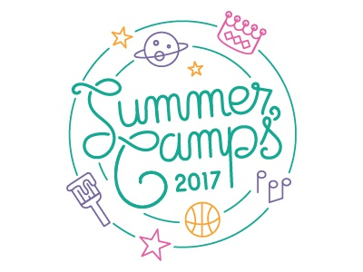 Summer Camps logo calligraphy cursive hand lettering childrens museum kids design logo design graphic design logo