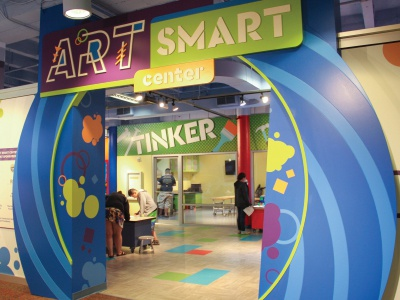 Art Smart Center Entryway childrens museum exhibit entrance art center art entry way exhibit design