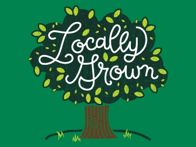 Locally Grown Tshirt Design