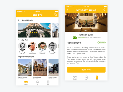 Bogota Travel App mobile interface apple ios bogota travel color ux ui illustrator sketch