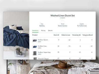 Vend – Product Inventory inventory management retail app retail point of sale product design ux ui