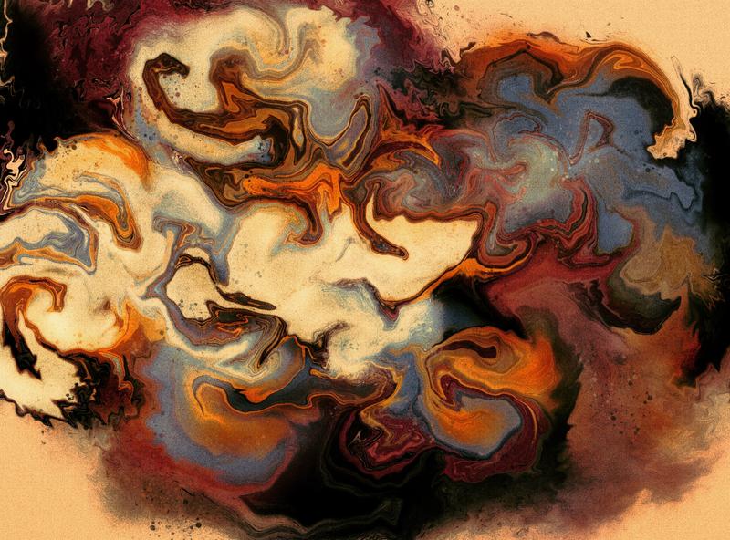 Waves on the shores feelings mood digital illustration digital painting digital art painting abstract art marble textures marbling procreate illustration design illustration art