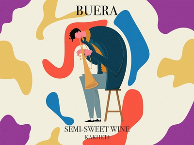 BUERA WINE graphic design illustrator minimal ui logo typography vector branding design illustration