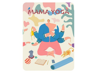 Mama Yoga art vector ui typography minimal illustrator illustration graphic design design branding