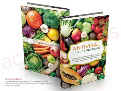 AntiViral Family Cookbook book cover design