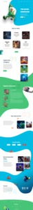 Landing Page Design: Pixar character design comic landing page design landingpage