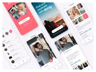 Mobile App Design: Matchy ux ui illustration mobile app design mobile ui