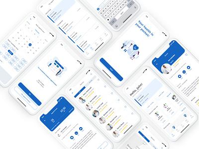 Mobile Health Application Design typography ui ux mobile app design mobile ui